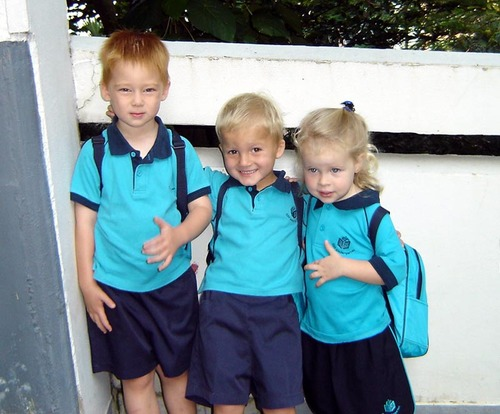 First day back to school, September 2005