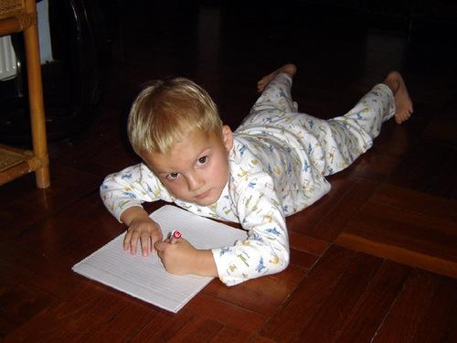 Sebastian loves to draw.