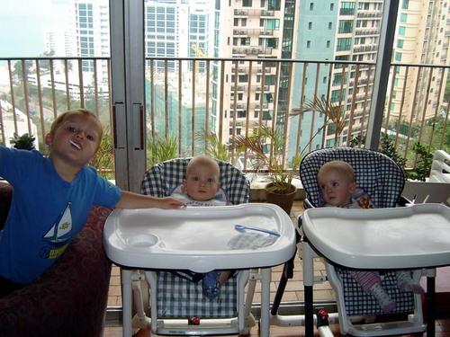 Sebastian, Jasper & Carys hanging out.