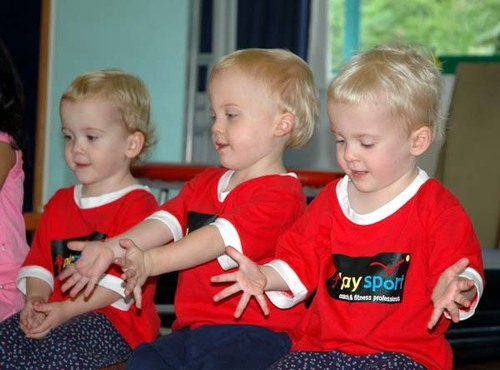 The Terrific Trio ready to play!