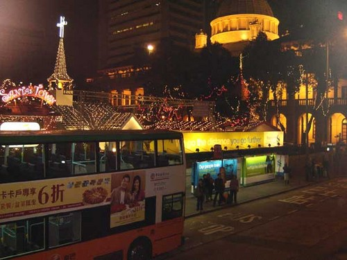 Chater Square decorated for Christmas